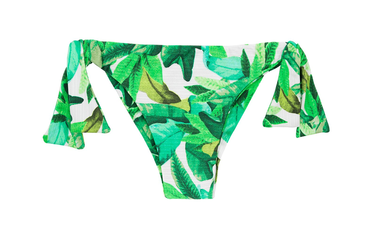 b0cf05ce6db892 Green leaves side-tie bikini bottoms - BOTTOM FOLHAGEM TRANSPASSADO ...
