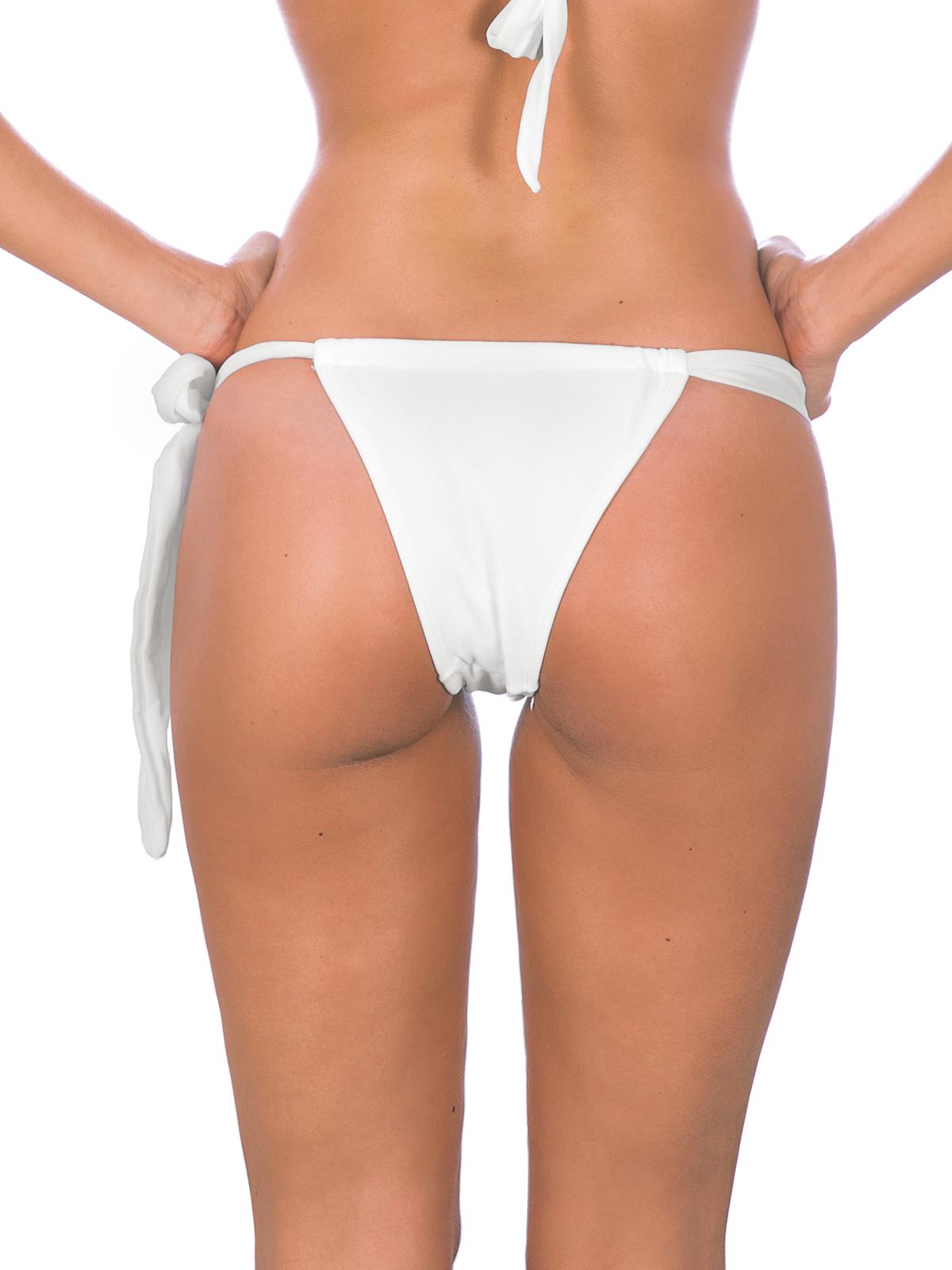 865fe41ba48 Bikini Bottoms White Sliding Tie-side Bikini Bottom - Branco Lace