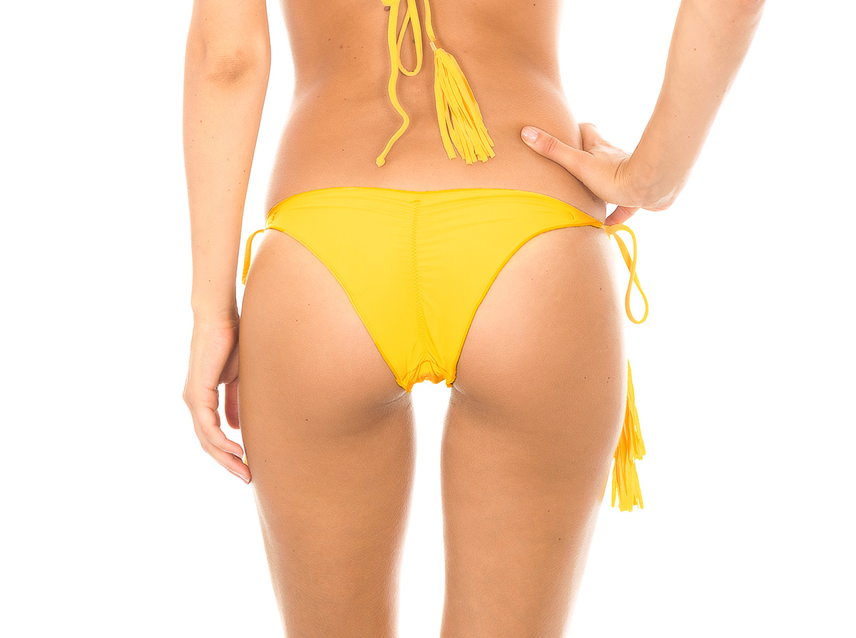 a91d961b30 ... Bubble yellow fringed scrunch tanga bikini bottom - CALCINHA AMBRA  FRUFRU MELON ...