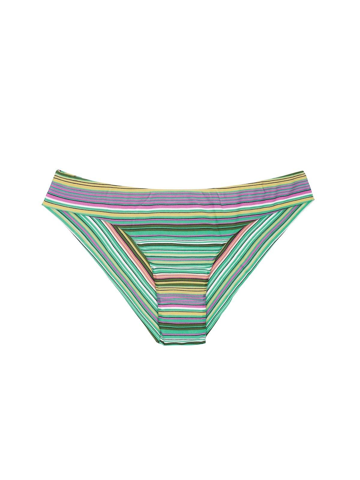 Green Striped Brazilian Bikini Bottom - Calcinha Iemanja Sporty