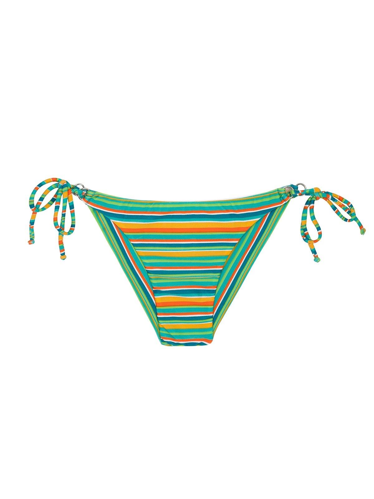 26a454913d1 Striped Brazilian bikini bottom with side ties - CALCINHA LEI CHEEKY ...
