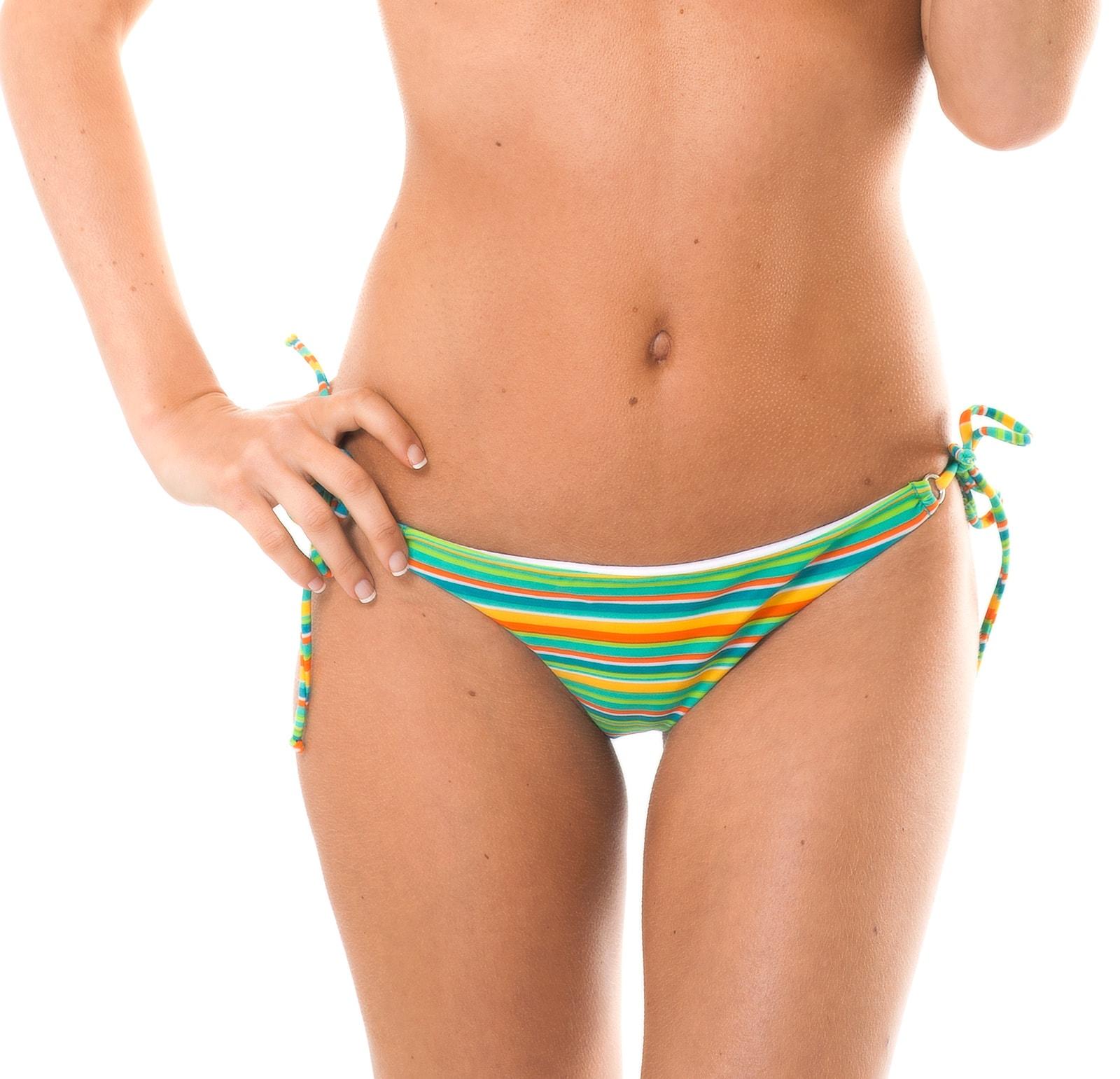 8e3ebd1eb38 ... Striped Brazilian bikini bottom with side ties - CALCINHA LEI CHEEKY ...