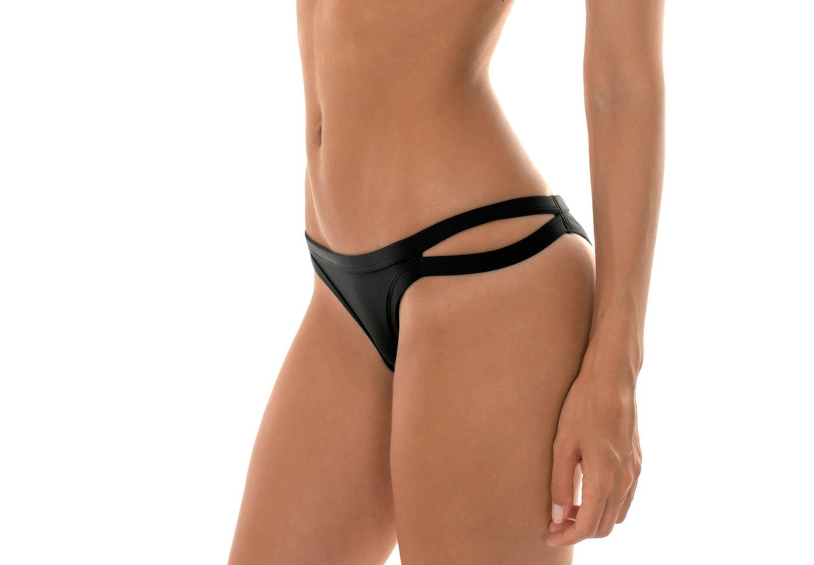 6cda069dc Black Strappy Brazilian Bikini Bottoms - Calcinha Preto Cropped ...