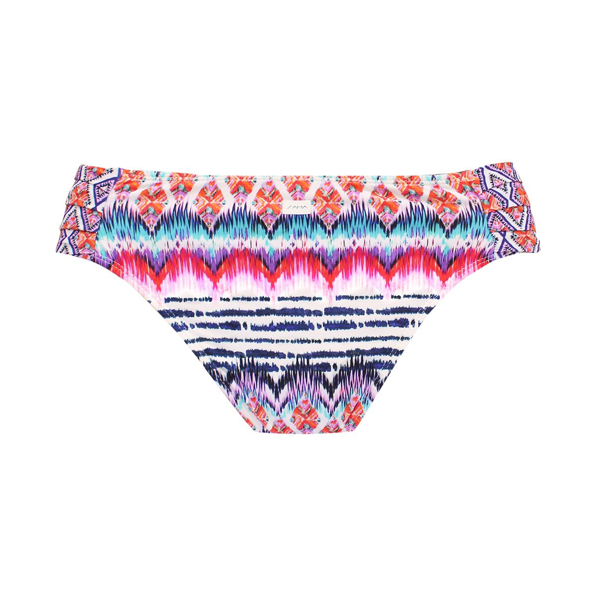 8294a42538f Ethnic Multi-coloured Fixed Bikini Bottom - Calcinha Rythm - Saha