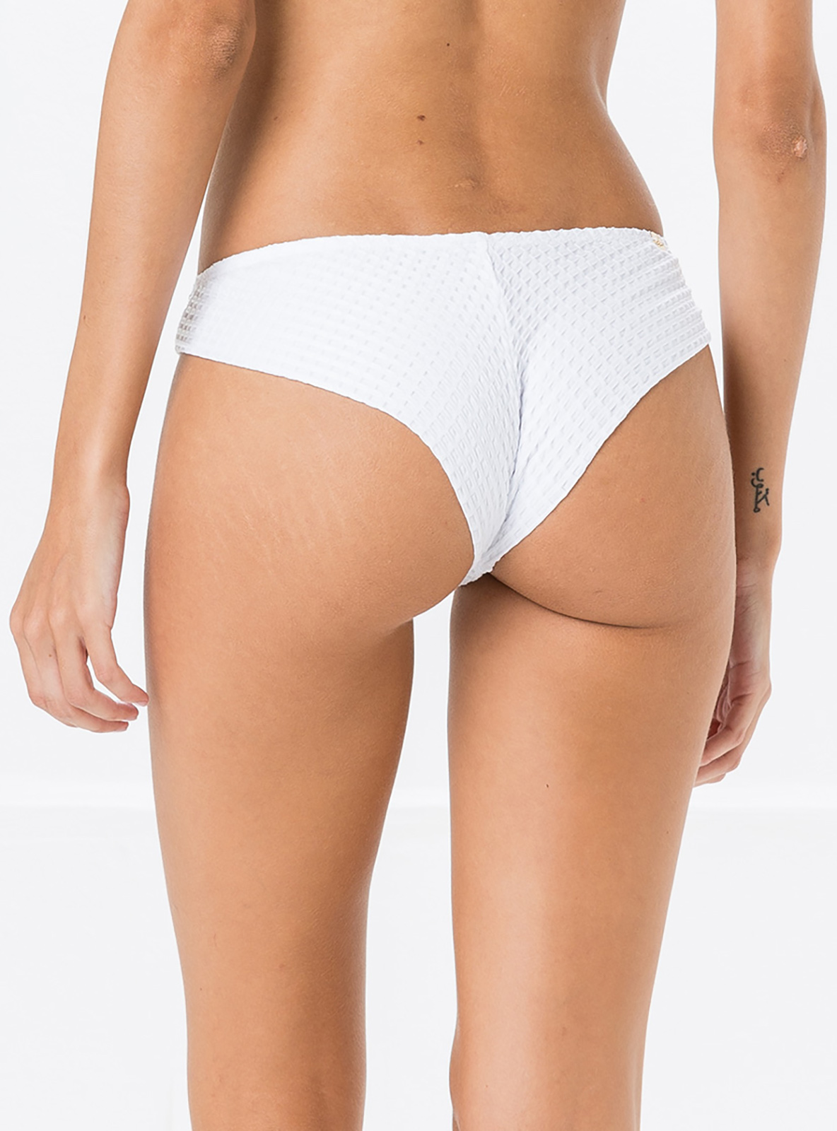 4d20cb07cd507 White Textured Fixed Bikini Bottom - Bottom Miracle Anarruga Branco ...