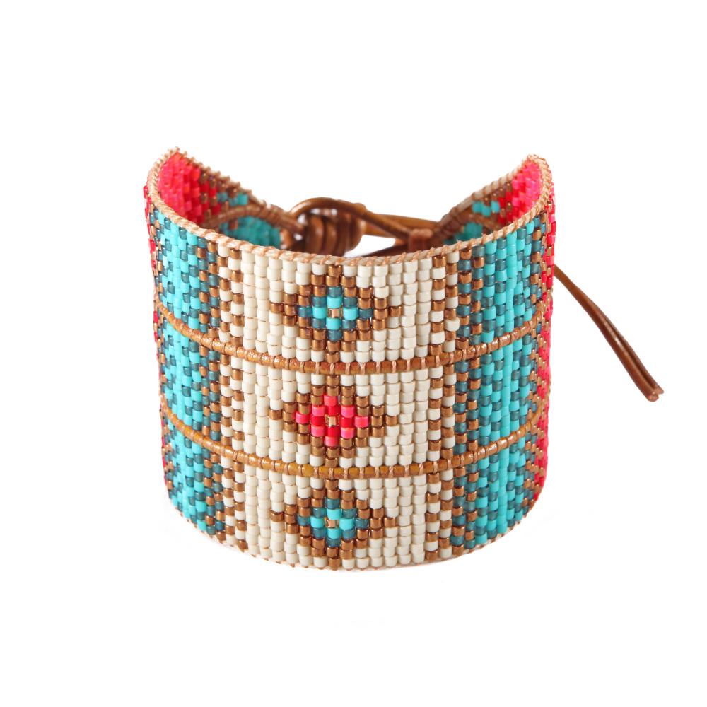 prix le plus bas 1c406 54704 Bracelet Diamond Coral Turquoise Big