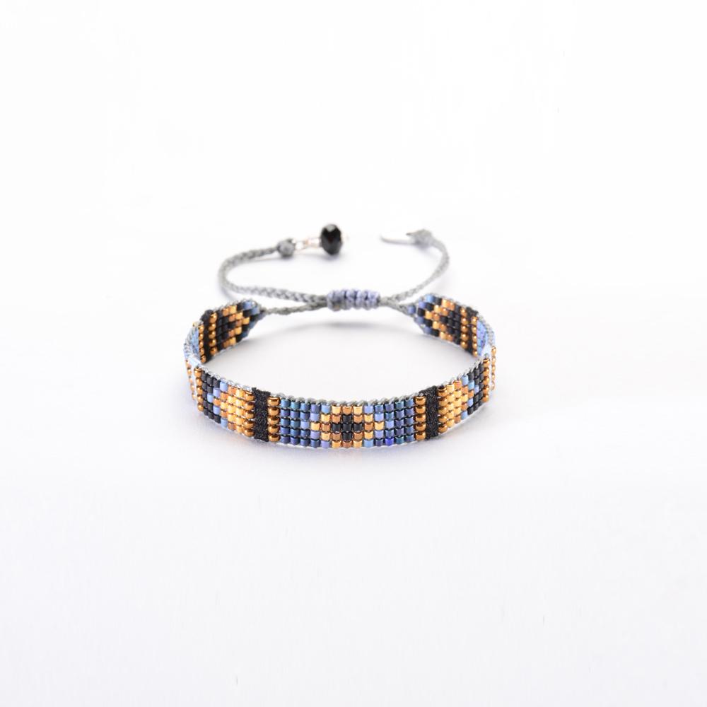 mishky bracelet perles bleu cuivr parties tiss es yeyi be 3598. Black Bedroom Furniture Sets. Home Design Ideas