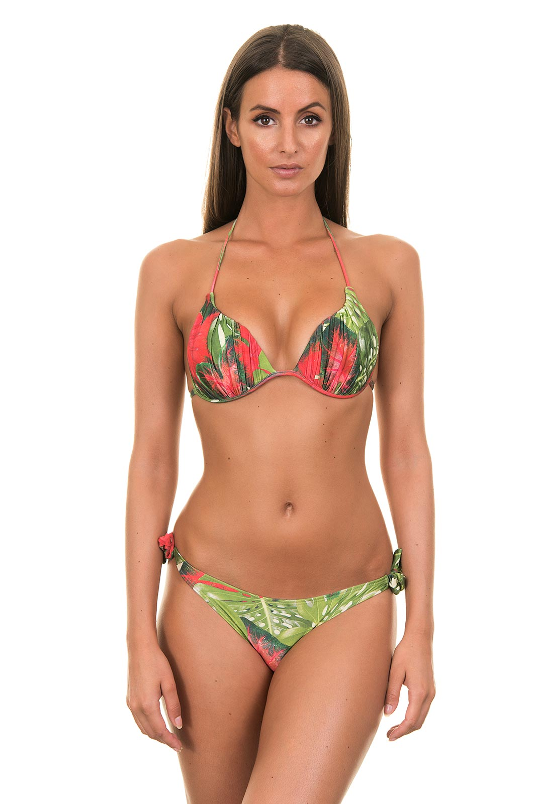 red and green brazilian bikini with triangle cups costela de adao. Black Bedroom Furniture Sets. Home Design Ideas