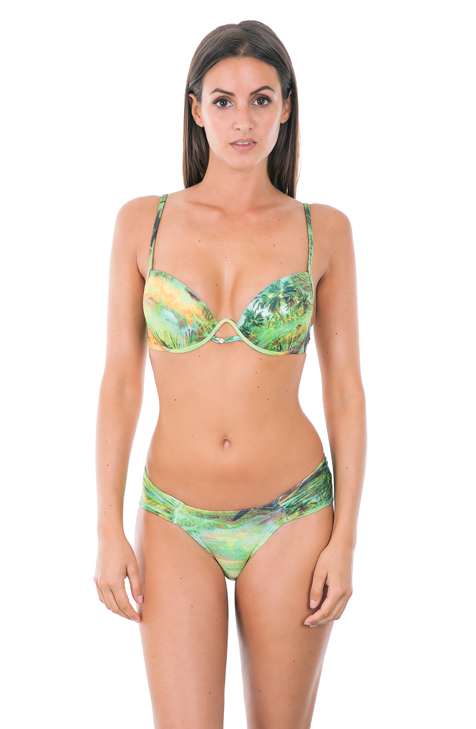 green balconette push up bikini bottom with wide sides melodie. Black Bedroom Furniture Sets. Home Design Ideas
