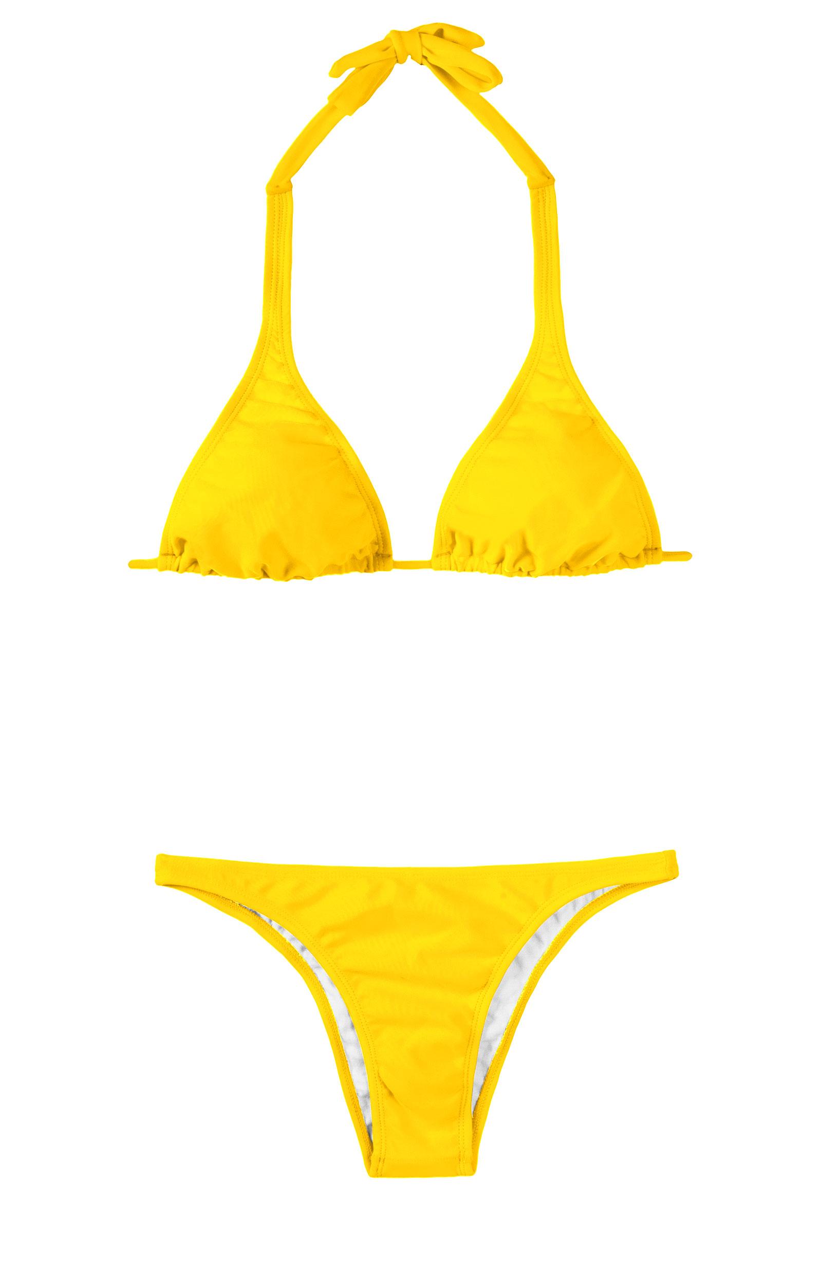 maillot de bain 2 pi ces triangle jaune ipe cortinao basic. Black Bedroom Furniture Sets. Home Design Ideas