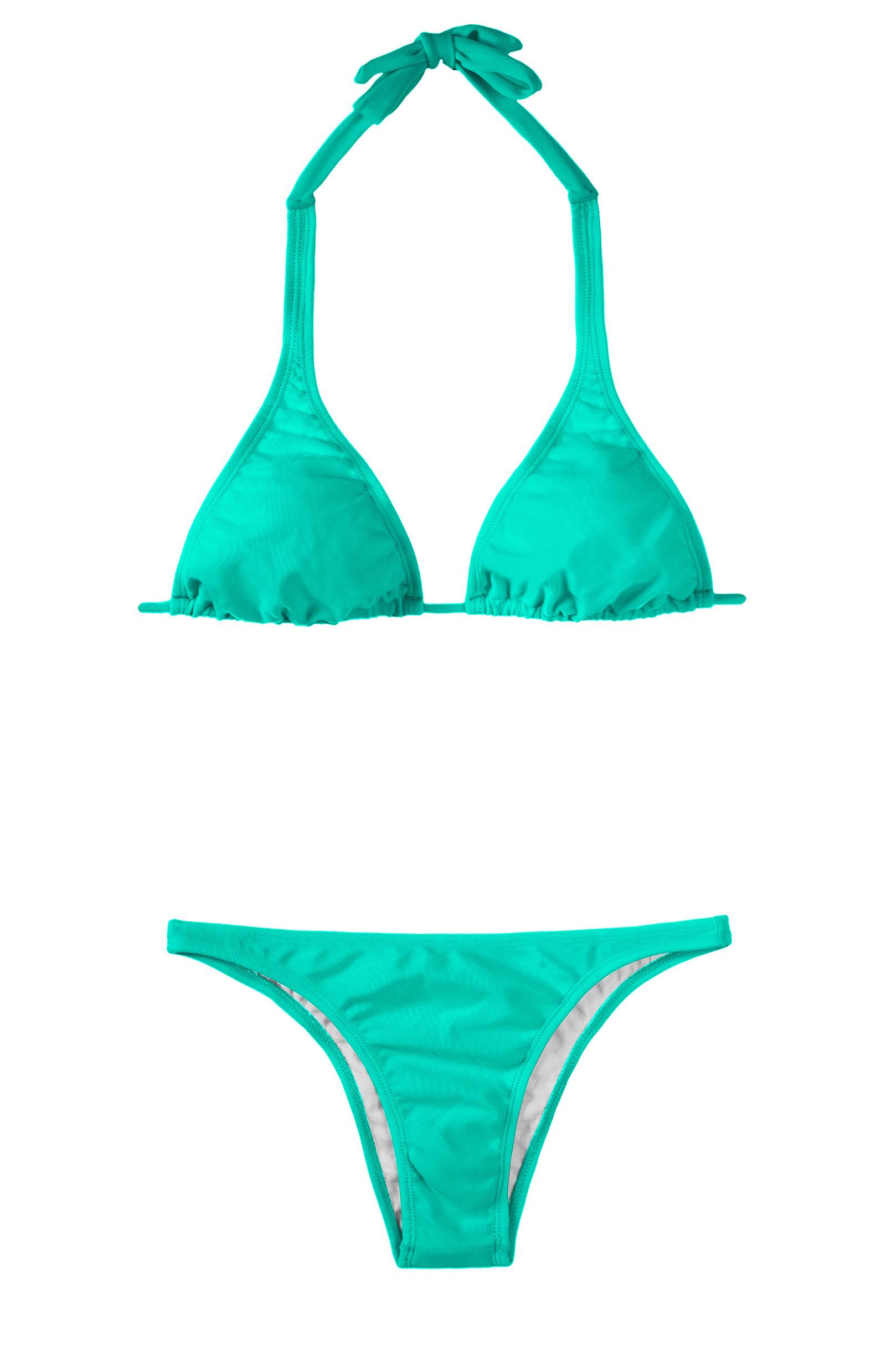 Triangle-bikini, Schalförmiger Schnitt, Farbe: Lagunengrün - Mare Cortinao  Basic
