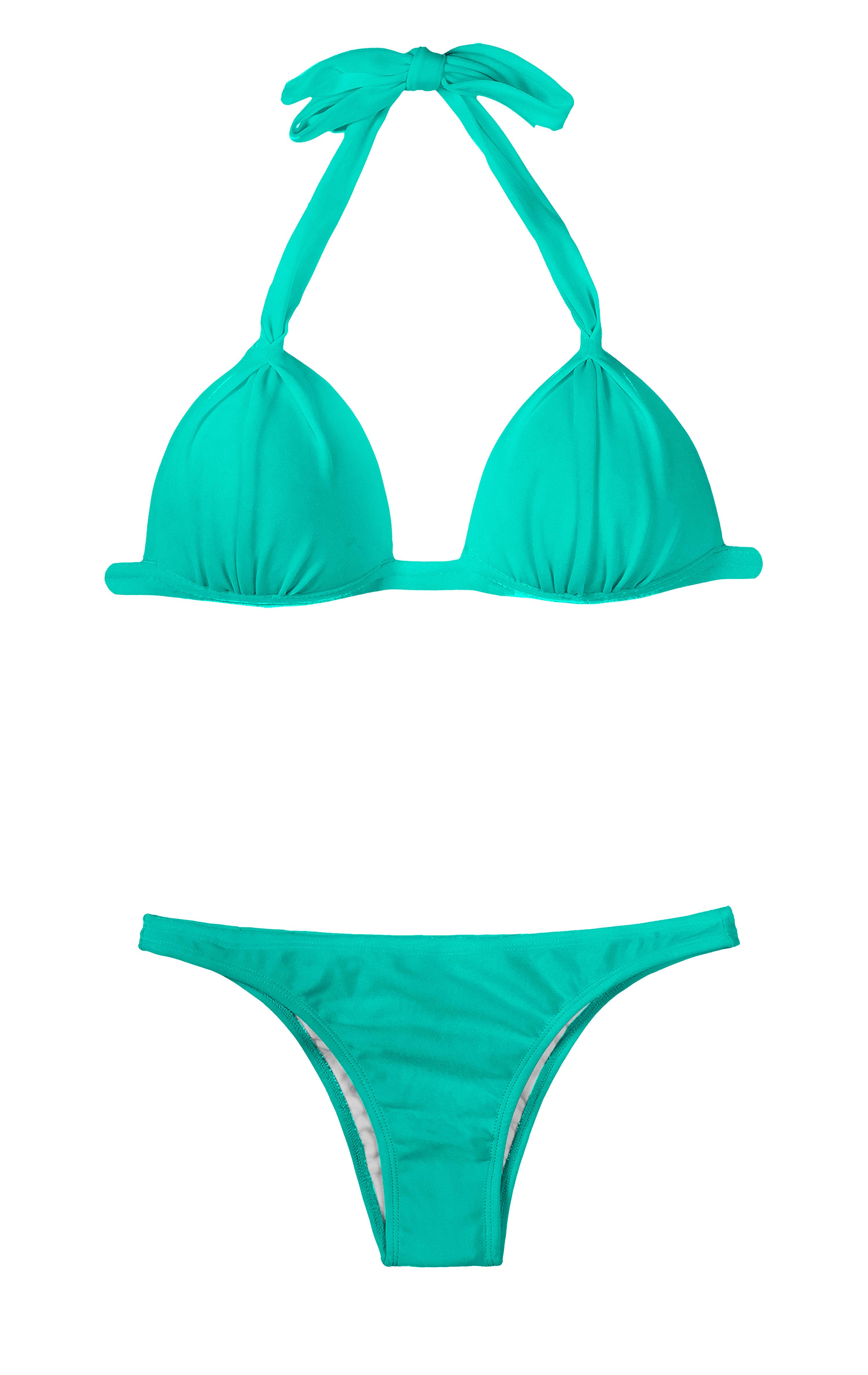 Triangle-Paddé-Bikini, Farbe: lagunengrün - MARE FIXO BASIC ...