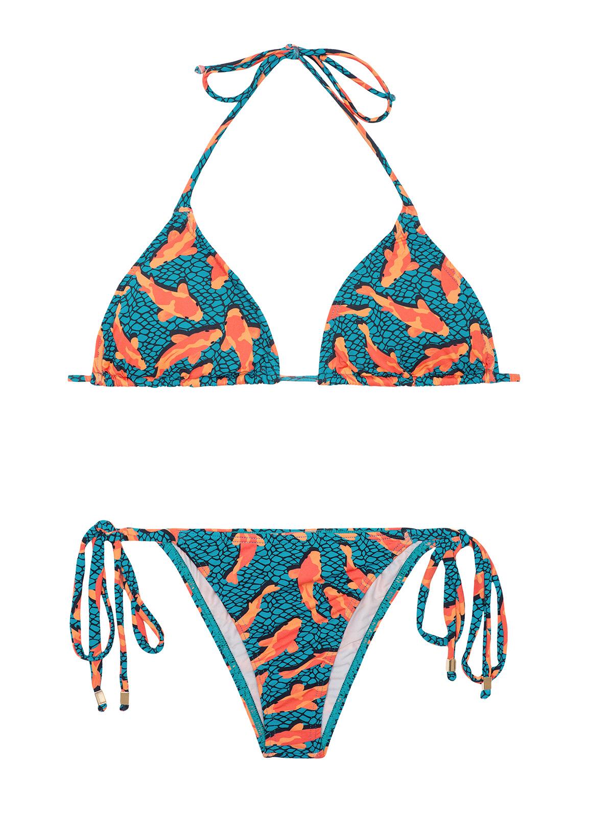 blauer brasilianischer bikini mit b ndern zum binden. Black Bedroom Furniture Sets. Home Design Ideas