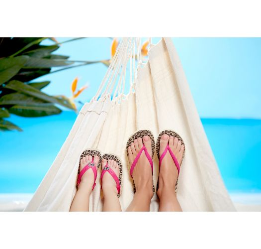Tong - Havaianas Slim Animals Sandgrey/Pink