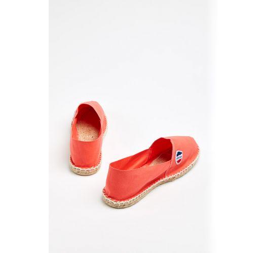 נעלי אספדריל מכותנת ביו בצבע אלמוג - מיוצרות בצרפת - CLASSIQUE 1 - Corail
