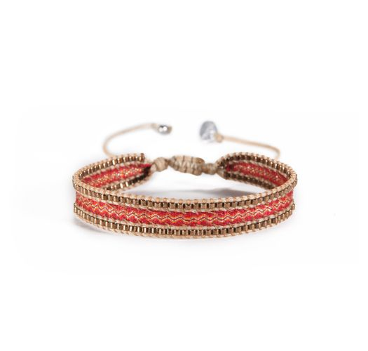 Bracelet CANAL COPPER RED