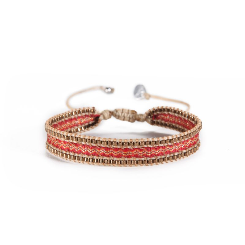 Armband CANAL COPPER RED