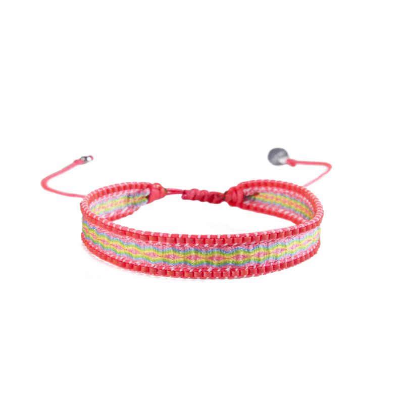 Bracelet CANAL PINK GREEN