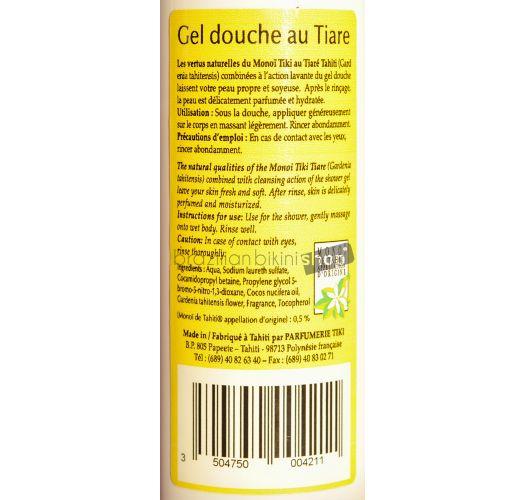 Tiaré-scented shower gel with Tahiti monoï - GEL DOUCHE AU MONOI 250ml