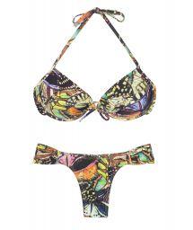 Butterfly printed push-up swimsuit - BORBOLETA BLACK