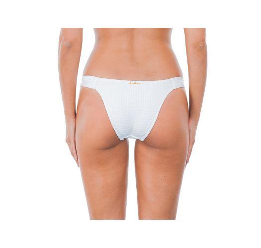 Accessorized white bikini bottom - CALCINHA ARABESQUE WHITE