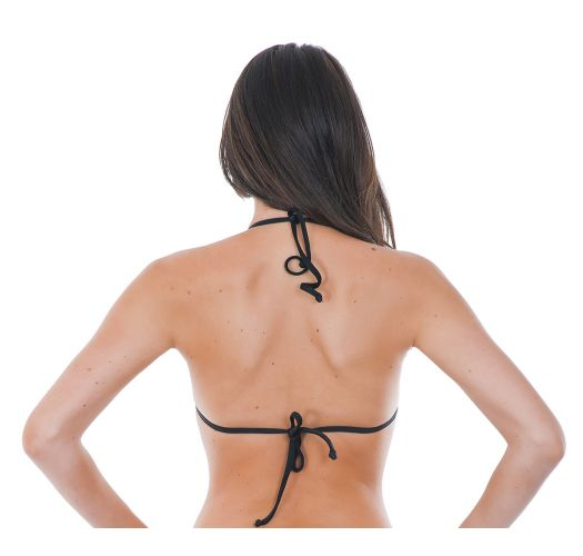 Haut de maillot triangle noir avec transparence - STRAPPY PRETO