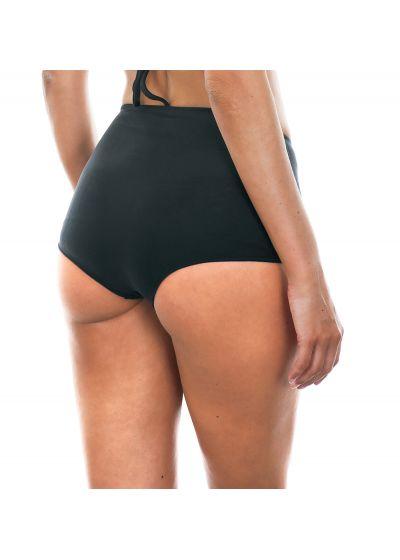 Black high-waisted swimsuit bottom - CALCINHA NOITI