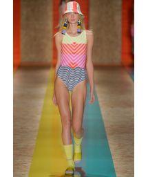 Runway high neck one-piece swimsuit - HORIZONTE FASHION SHOW