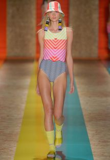 Runway high neck one-piece swimsuit - HORIZONTE FASHION SHOW