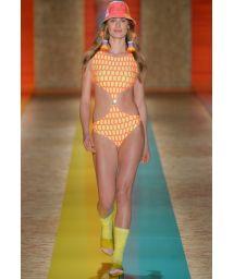Original laser cut trikini, runway model - LOSANGO FASHION SHOW