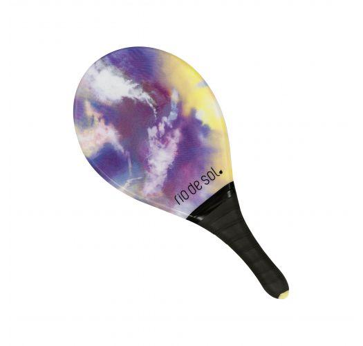 Raquette de frescobol pro tie dye violet/jaune grip noir - BEACH BAT TIEDYE-PURPLE