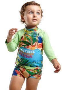 Zestaw: chłopięcy top z długim rękawem i kąpielówki - JOHN MANGA LONGA BABY MARESIA
