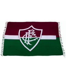 This pareo features the maroon and hunter green banner of the Canga Fluminense football club.     - CANGA FLUMINENSE
