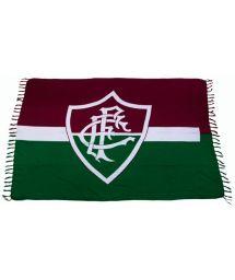 This pareo features the maroon and hunter green banner of the Canga Fluminense football club.     - CANGA FLUMINENSE