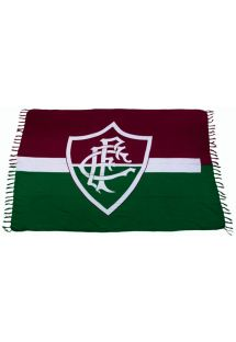 Den här pareon presenterar den rödbruna och jägargröna fanan för Canga Fluminense fotbollsklubb. CANGA FLUMINENSE