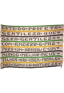 Výnimočná Canga Amor E Paz prikrývka je navrhnutá značkou Rio de Sol. - CANGA AMOR E PAZ