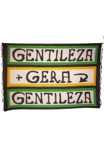 Canga Gera Gentileza features a message and colorful boarders over a white background. - CANGA GERA GENTILEZA