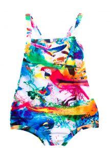 Kolorowy jednoczęściowy strój kąpielowy dla niemowląt - Pedrita Baby Fly