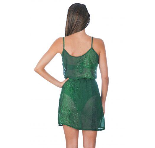 Green crocodile print beach dress - SAIDA CROCO VERDE
