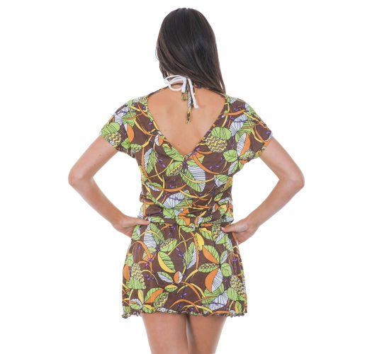 Robe de plage courte imprimé africain - OUROANA