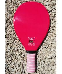 Professional pink frescobol paddle - RAQUETE FIBRA SUPER ROSA