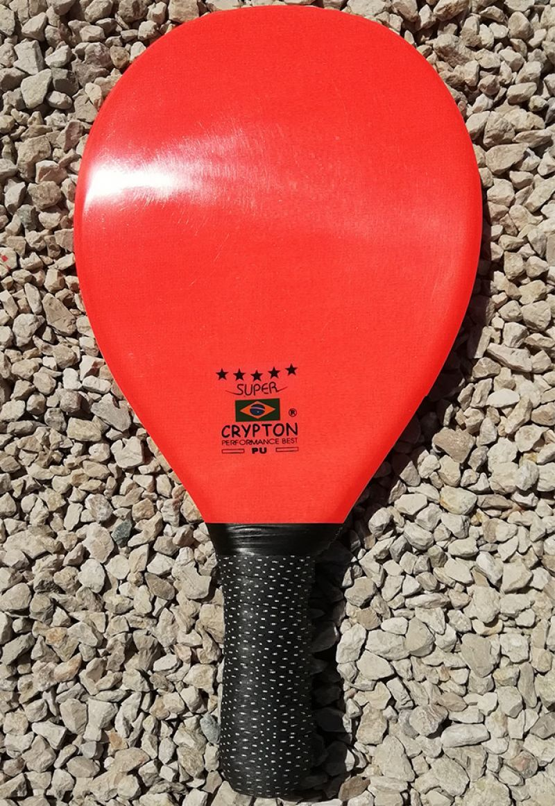 Orange professionell frescobol-racket - RAQUETE FIBRA SUPER LARANJA