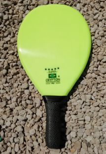 Professional light green frescobol paddle - RAQUETE FIBRA SUPER VERDE CLARO
