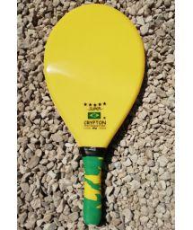 Professional yellow frescobol paddle - RAQUETE FIBRA SUPER AMARELA