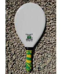 Professional black and white frescobol paddle - RAQUETE FIBRA SUPER BRANCA