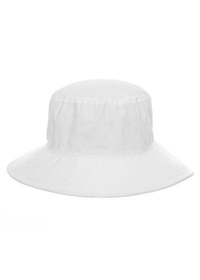 White elastic beach hat (for ponytail) - CHAPEU CALIFORNIA BRANCO - SOLAR PROTECTION UV.LINE