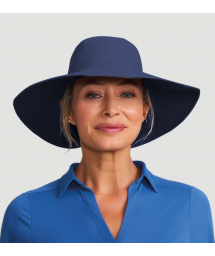 Dark blue hat velcro fastening - SAN DIEGO INDIGO - SOLAR PROTECTION UV.LINE