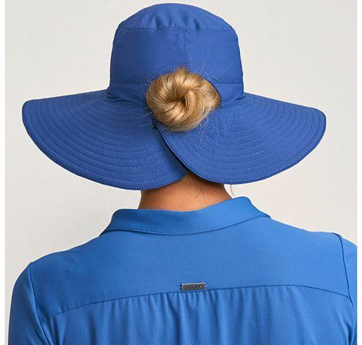 Blau/rosa Wende-Hut, Pferdeschwanz-Öffnung - SAN DIEGO MARINHO/PINK - SOLAR PROTECTION UV.LINE