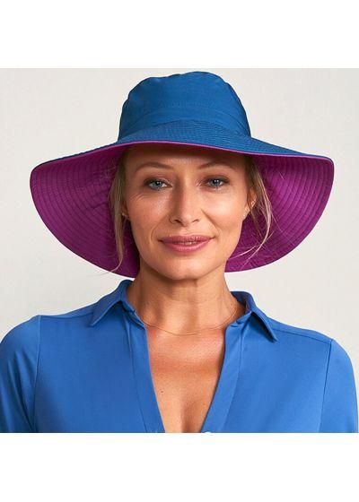 Reversible navy / pink hat velcro fastening - SAN DIEGO MARINHO/PINK - SOLAR PROTECTION UV.LINE