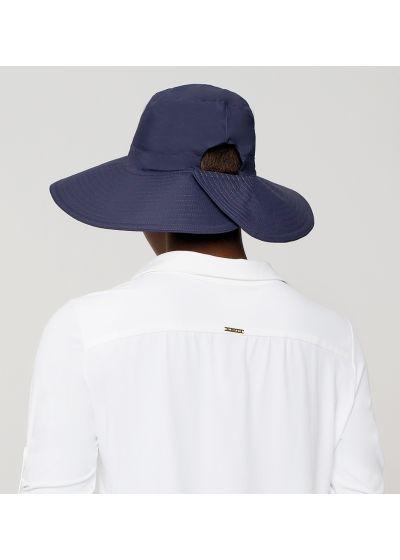 Navy hat velcro fastening - SAN DIEGO MARINHO - SOLAR PROTECTION UV.LINE